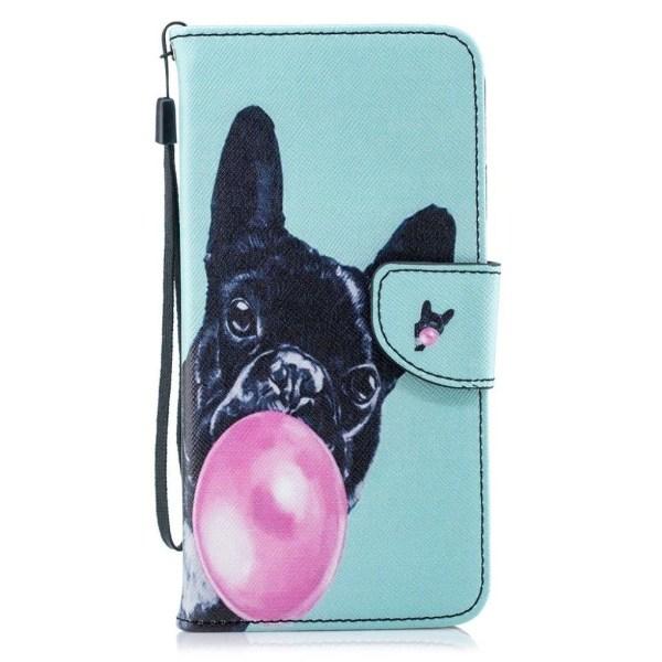 iPhone Xs Max mobilfodral syntetläder silikon stående plånbo