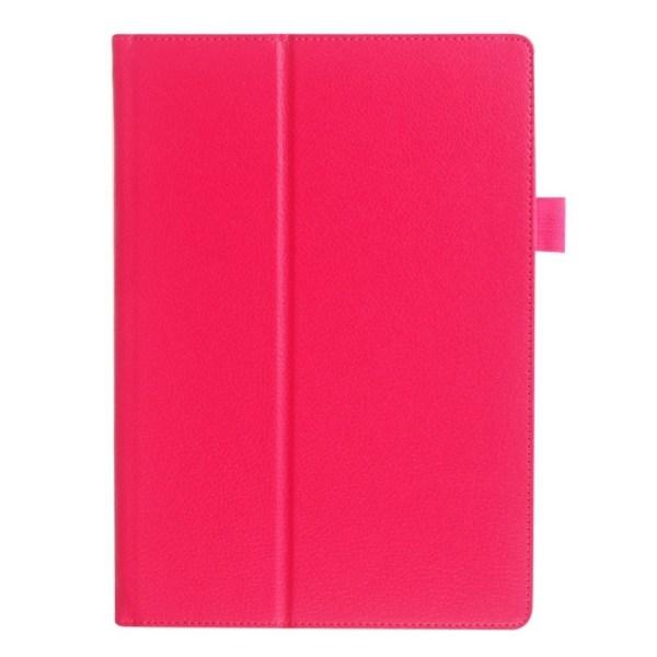 Lenovo Tab 3 Plus 10 litchi textur läderfodral - Varm rosa