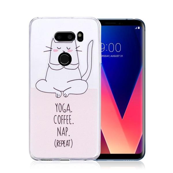LG V30 Skal med ett unikt motiv - Katt text