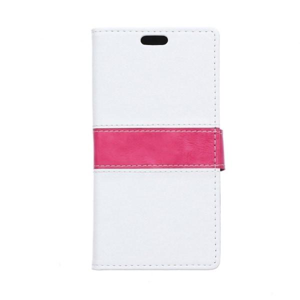 Lie Sony Xperia E4g Fodral med Plånbok - Vit