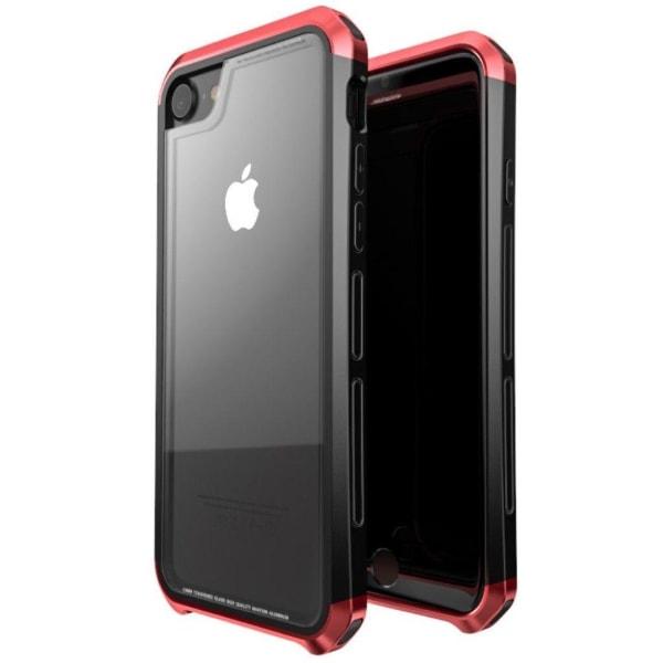 LUPHIE iPhone 6s-6-7-8 mobilskal härdat glas plast metall ra
