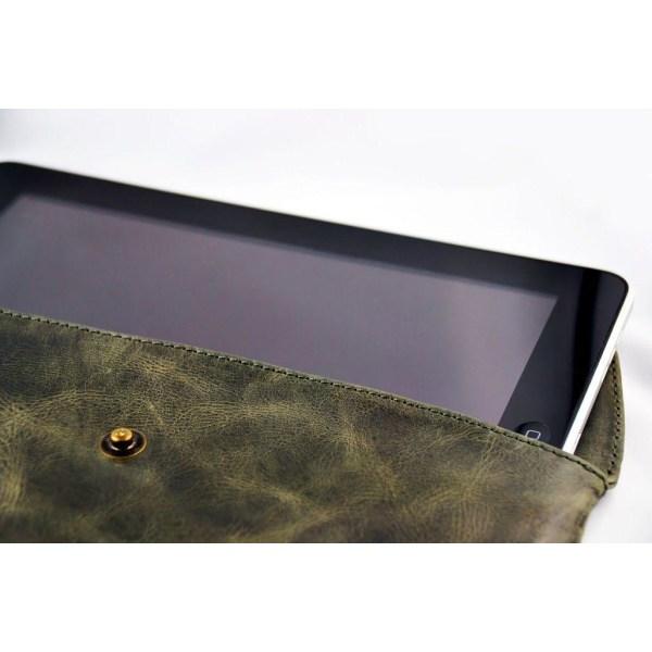 Luxury Bag (Mörkgrå) Äkta Läderväska för Tablets