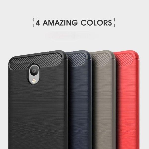 Meizu M5 Note Snyggt skal med karbon fiber stil - Svart