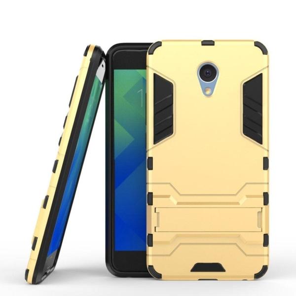Meizu M5 Note Stilrent hybird skal med kickstand - Guld