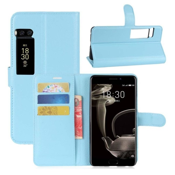 Meizu Pro 7 Plus Stilrent fodral i läder - Blå
