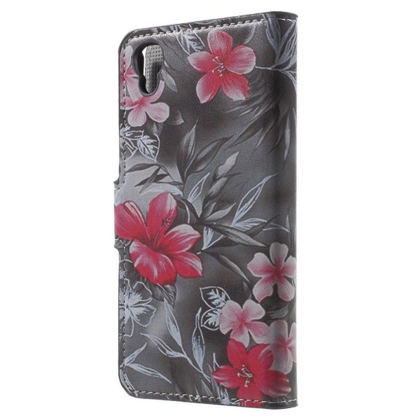 Moberg Alcatel OneTouch Idol 3 (4.7) Fodral - Levande Blommo