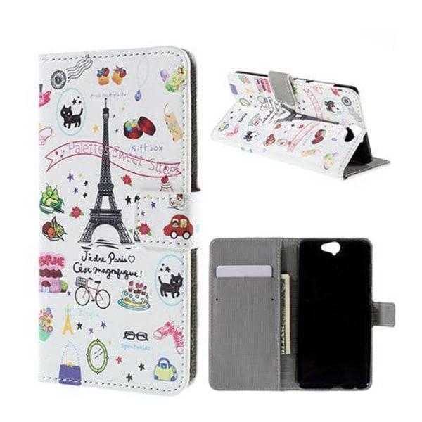 Moberg HTC One A9 Fodral - Frukt och Eiffeltornet