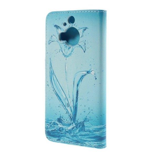 Moberg HTC One M9 Plus Fodral med Plånbok - Blå Vattenblomma