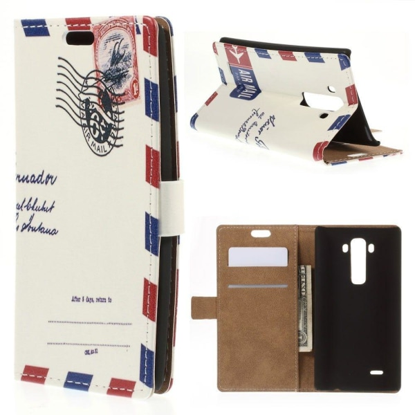 Moberg LG G Flex2 Fodral med Plånbok - Kuvert Mönster