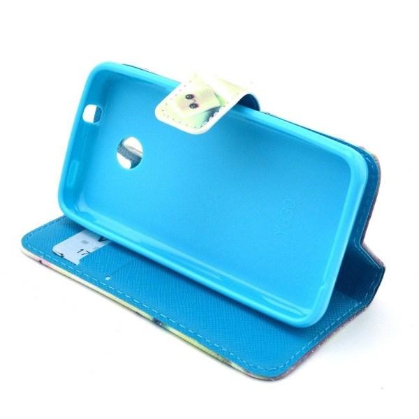 Moberg Plånboks Läderfodral för Huawei Ascend Y330 - Söt Mar