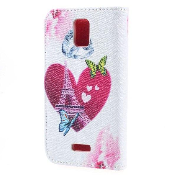 Moberg Plånboks Läderfodral till Huawei Y360 - Hjärtan