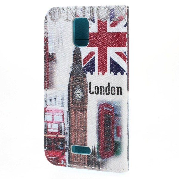 Moberg Plånboks Läderfodral till Huawei Y360 - London och Bi
