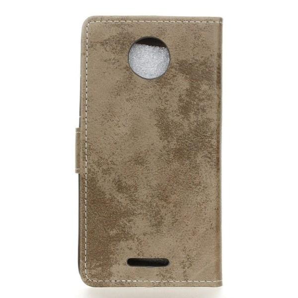 Motorola Moto C Plus Fodral med vintage design - Beige