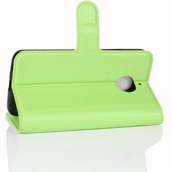 Motorola Moto E4 Plus Modernt fodral i skinn - Grön