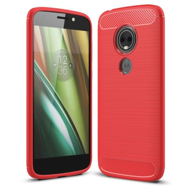 Motorola Moto E5 Play mobilskal silikon kolfiber borstad - R