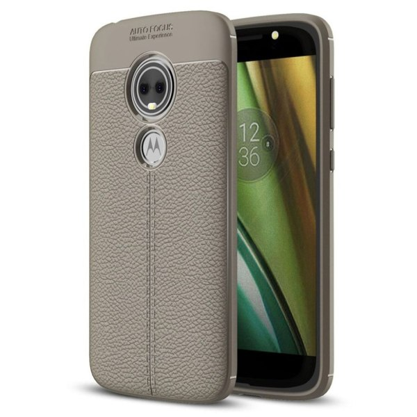 Motorola Moto E5 Play mobilskal silikon litchi textur - Grå