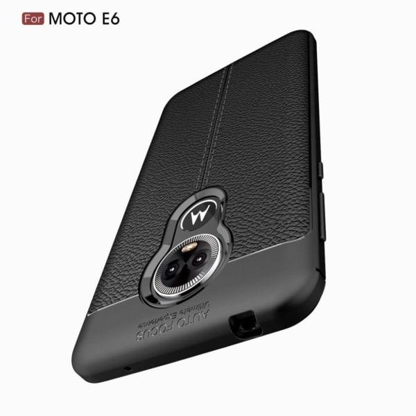 Motorola Moto E6 litchi grain soft case - Black