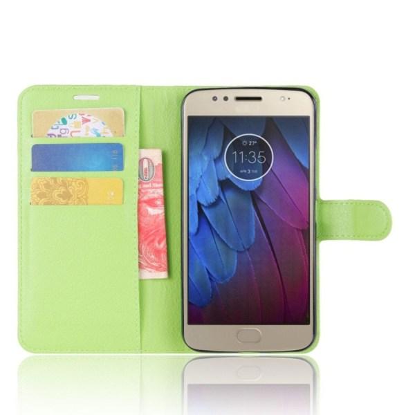 Motorola Moto G5S Enfärgat fodral med plånbok - Grön