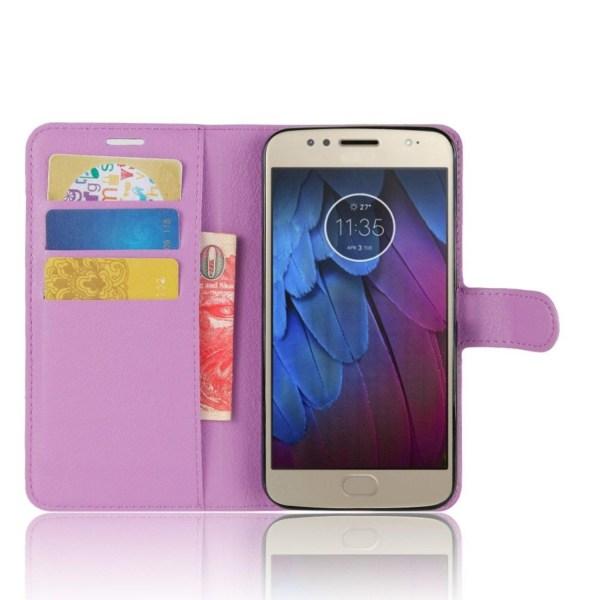 Motorola Moto G5S Enfärgat fodral med plånbok - Lila