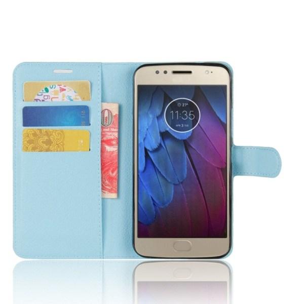 Motorola Moto G5S Enfärgat fodral med plånbok - Ljus blå