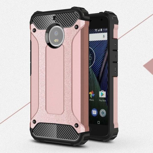 Motorola Moto G5S Hybird skal - Rose guld