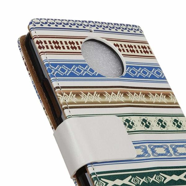 Motorola Moto G5S Läder fodral med plånbok - Etnisk mönster