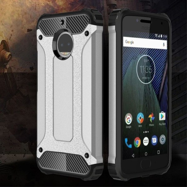 Motorola Moto G5S Plus Skal med förstärkta hörn - Silver