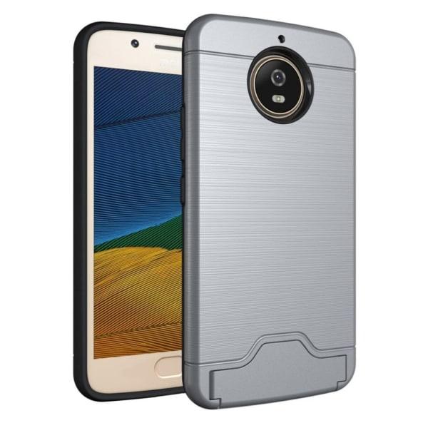 Motorola Moto G5S Skal med kickstand funktion - Grå