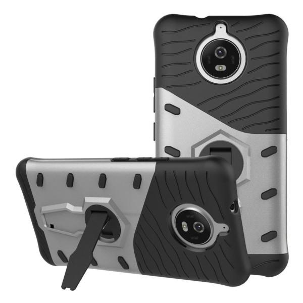 Motorola Moto G5S Skal med kickstand funktion - Silver