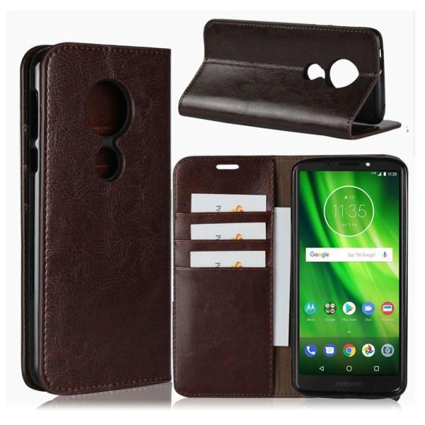 Motorola Moto G6 Play mobilfodral äkta läder silikonmaterial