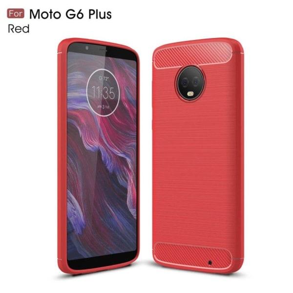 Motorola Moto G6 Plus mobilskal i TPU material skyddande kol