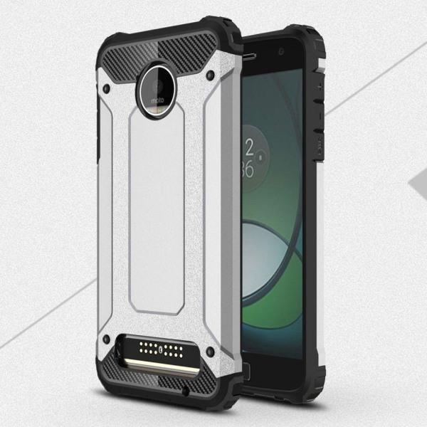Motorola Moto Z2 Play Modernt hybrid skal - Silver