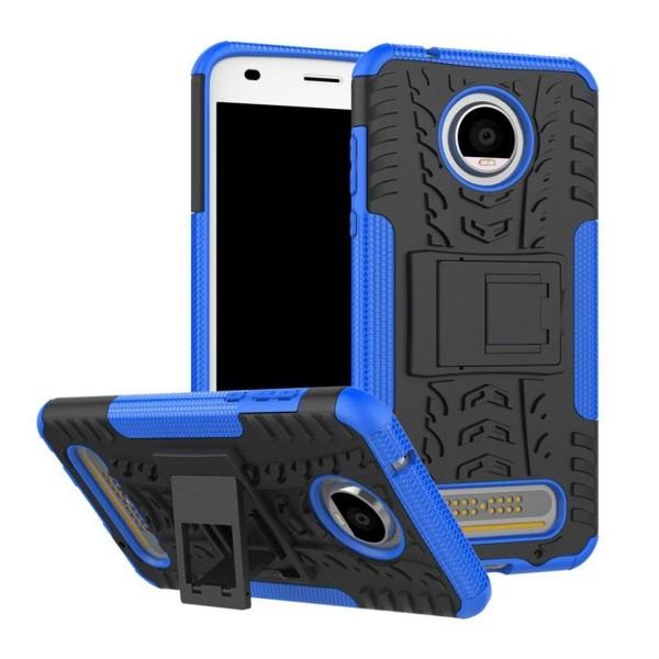 Motorola Moto Z2 Play Skal med däck mönster - Blå