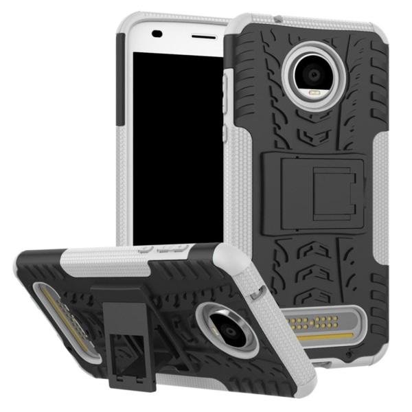 Motorola Moto Z2 Play Skal med däck mönster - Vit