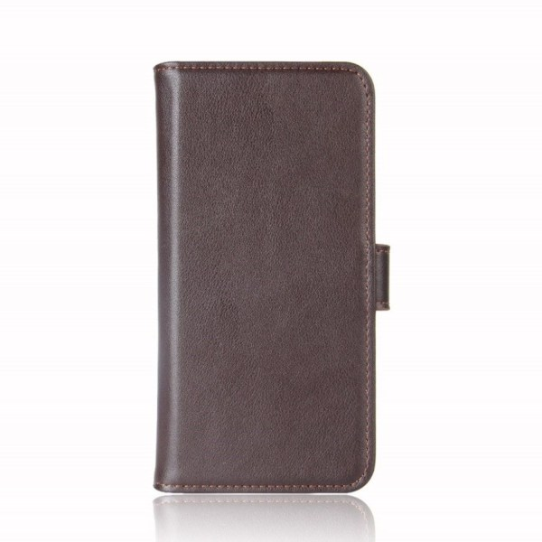 Motorola One stand wallet split leather case - Brown