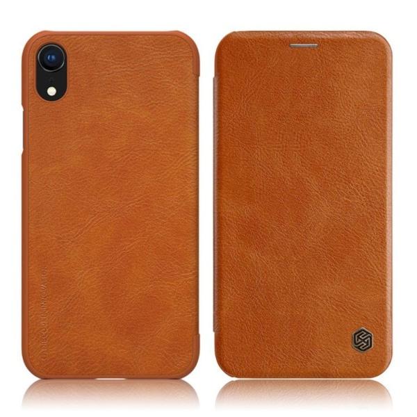NILLKIN iPhone Xr mobilfodral syntetläder plast korthållare