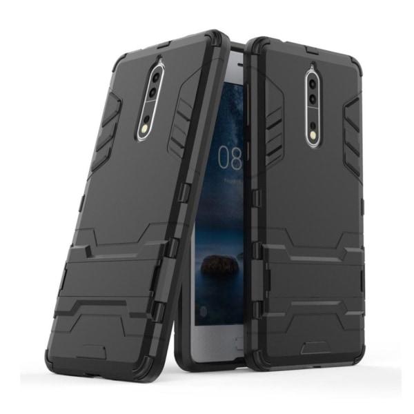Nokia 8 Skal med kickstand funktion - Svart