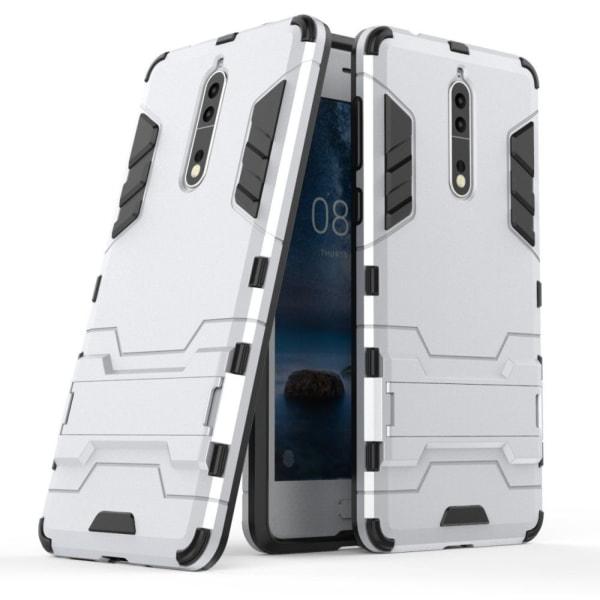 Nokia 8 Skal med kickstand funktion - Vit