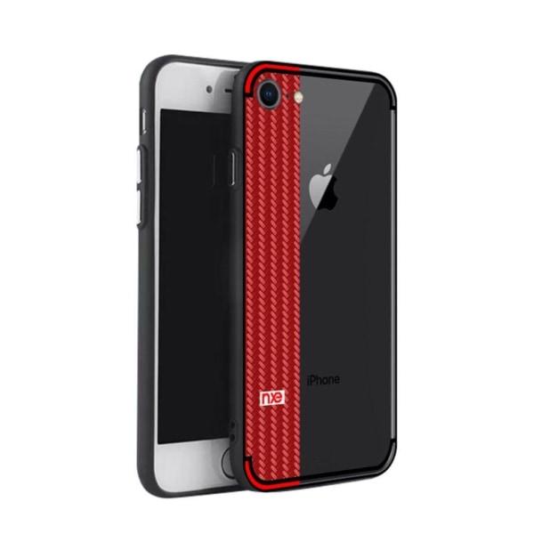 NXE iPhone 78 Skal med ett flättat motiv - Röd
