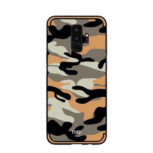 NXE Samsung Galaxy S9 Camouflage designat skal - Svart