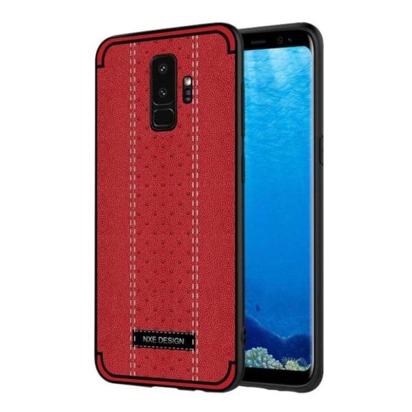NXE Samsung Galaxy S9 Skal med en snygg design - Röd