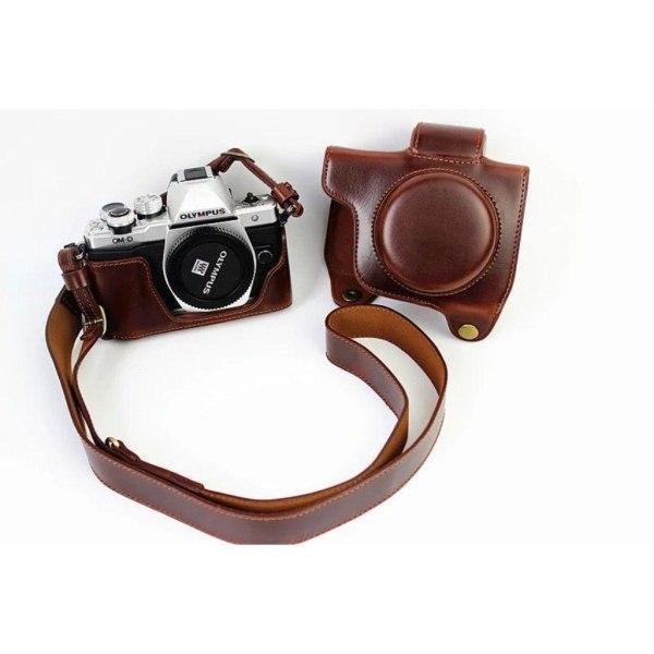 Olympus EM10EM10II Kamera skydd med en bekväm rem - Brun