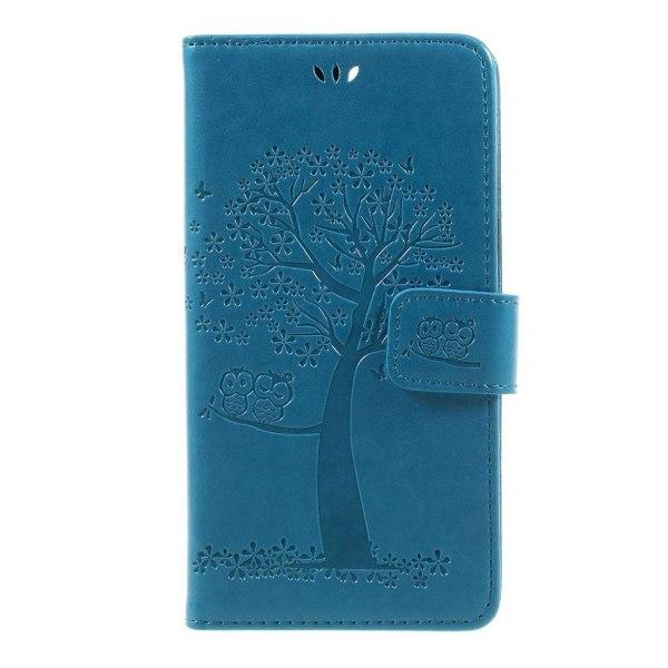 OnePlus 5 Fodral med unikt träd tryck - Blå