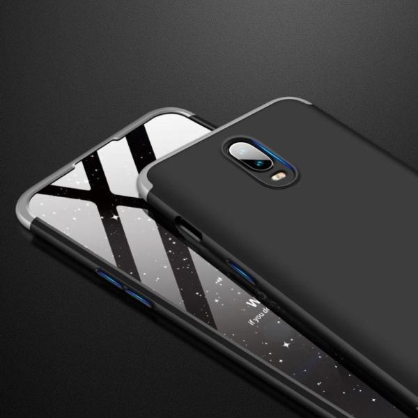 OnePlus 6T GKK 3 delat skyddande skal av hårt plast - Silver