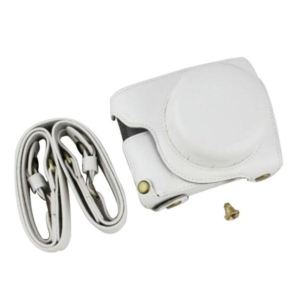 Panasonic GF10 kameraskydd konstläder väska rem - Vit