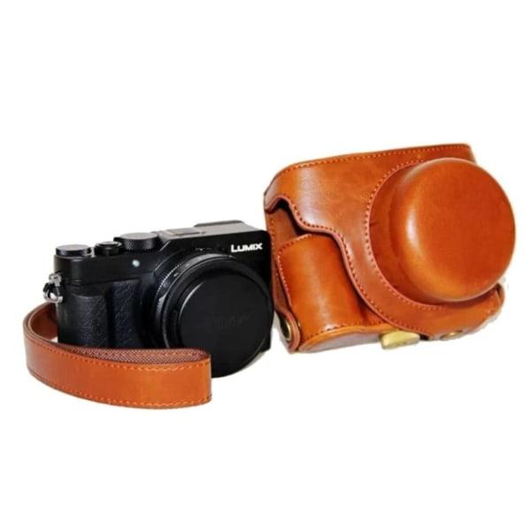 Panasonic LX100 Snyggt skydd i läder - Ljus brun