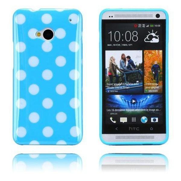 Polka Dots (Blå) HTC One Skal