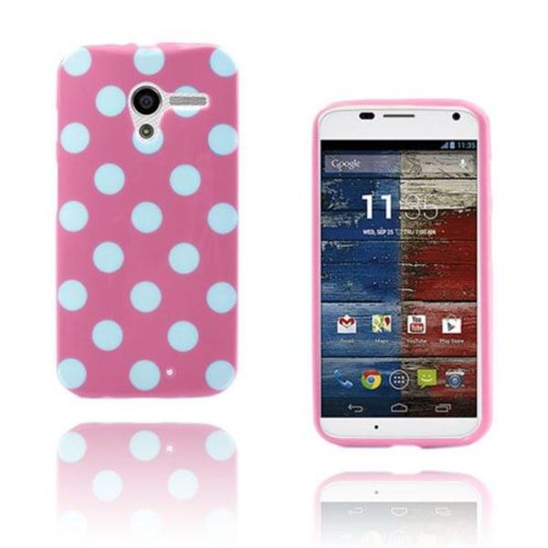 Polka Dots (Ljusrosa) Motorola Moto X Skal
