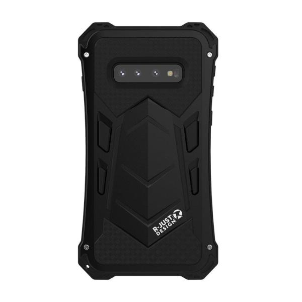 R-JUST Ghost Warrior Alu Case - Samsung Galaxy S10 Plus - Bl