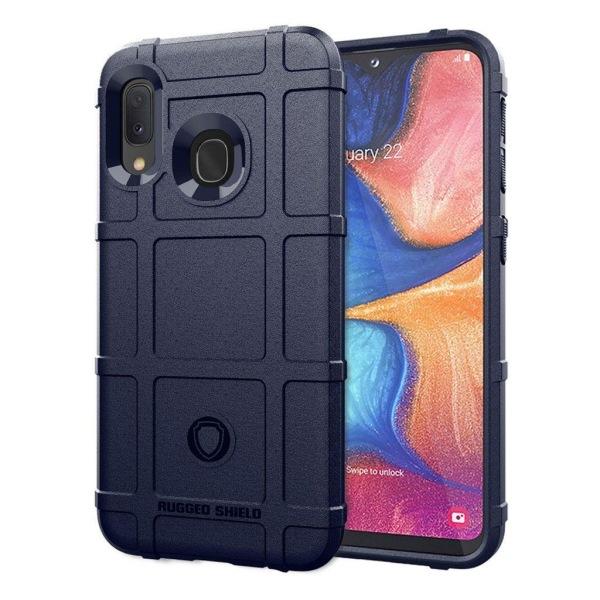 Rugged Shield Samsung Galaxy A20e skal - Mörkblå